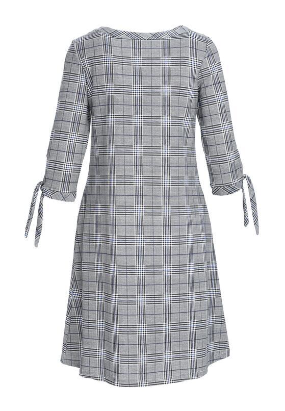 Szaro-Niebieska Sukienka Deferential