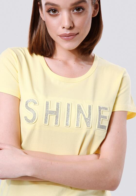 Żółty T-shirt Rich