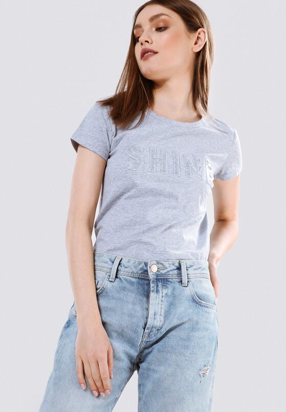 Szara T-shirt Rich