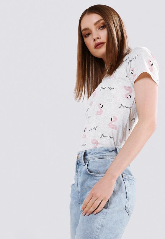 Jasnoszary T-shirt Midway