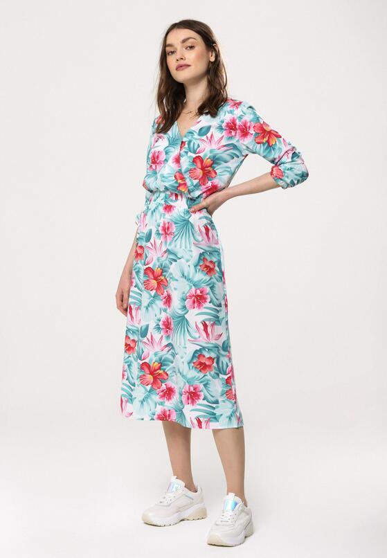 Miętowo-Różowa Sukienka Bourgeon