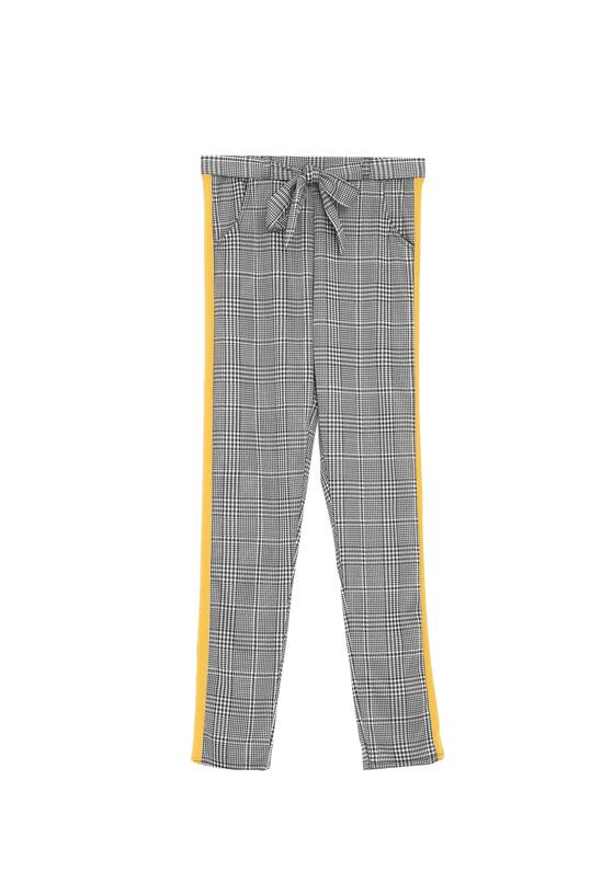 Czarno-Żółte Spodnie Have A Walk