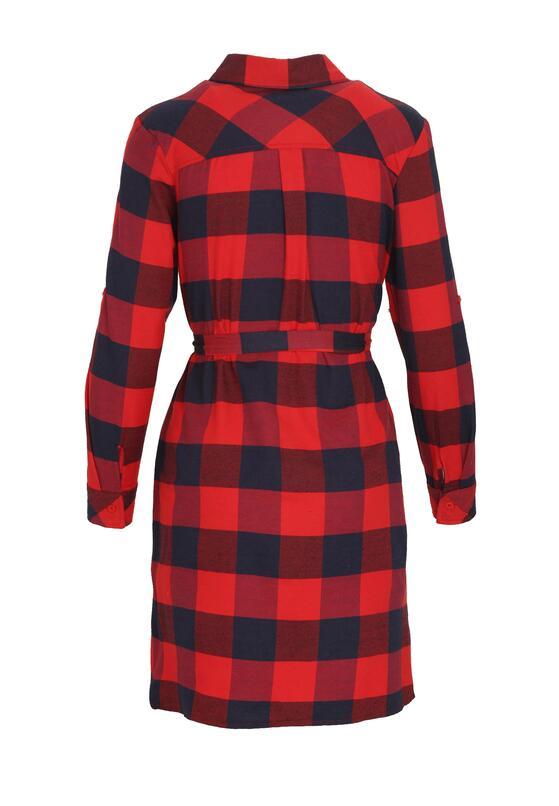 Granatowo-Czerwona Sukienka Bewilderment