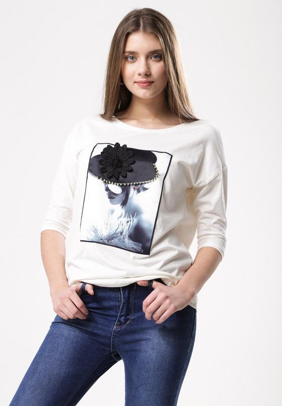 Biała T-shirt Fly In Face Of