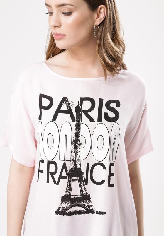 Różowy T-shirt About Everything
