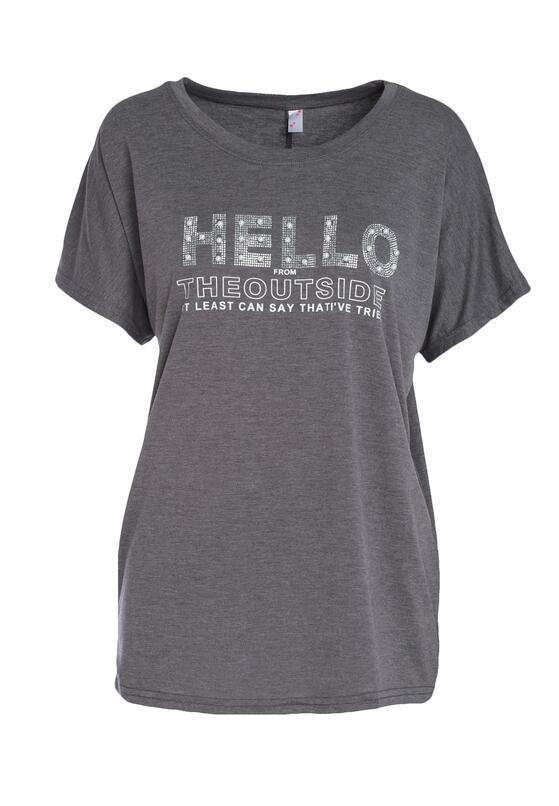 Ciemnoszary T-shirt Famously