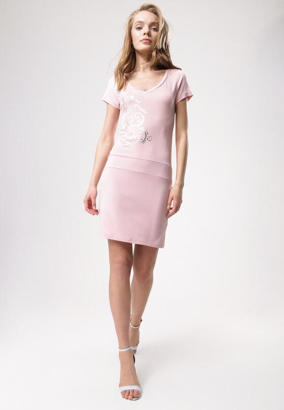 Różowa Sukienka Come Off