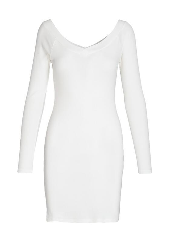 Biała Sukienka Stem