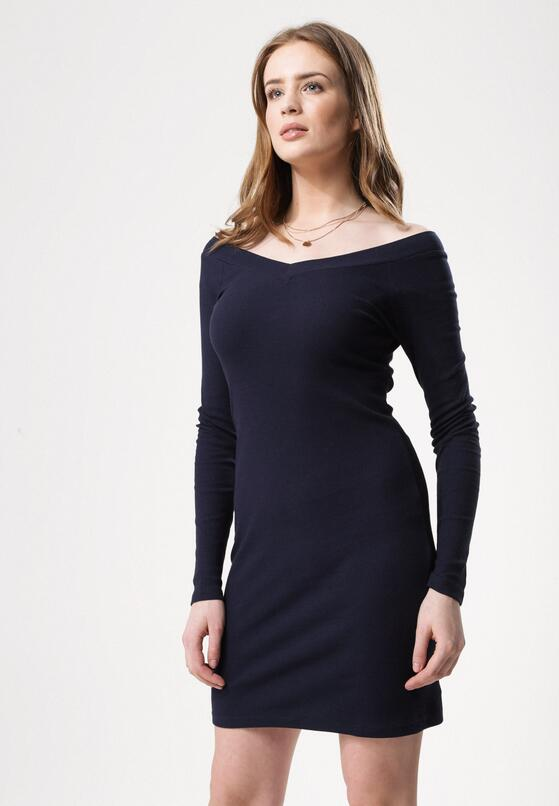 Granatowa Sukienka Stem