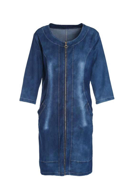 Niebieska Sukienka Follow