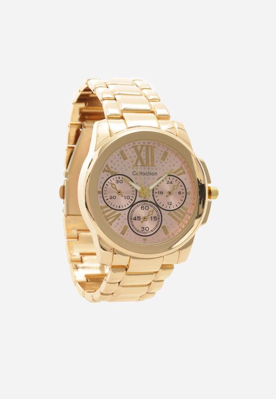 Złoto-Różowy Zegarek Rightness