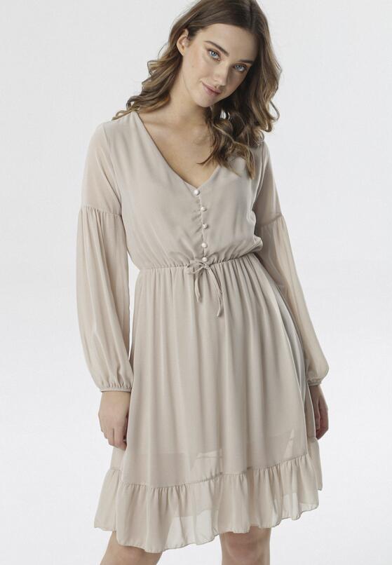 Jasnobeżowa Sukienka Lighten