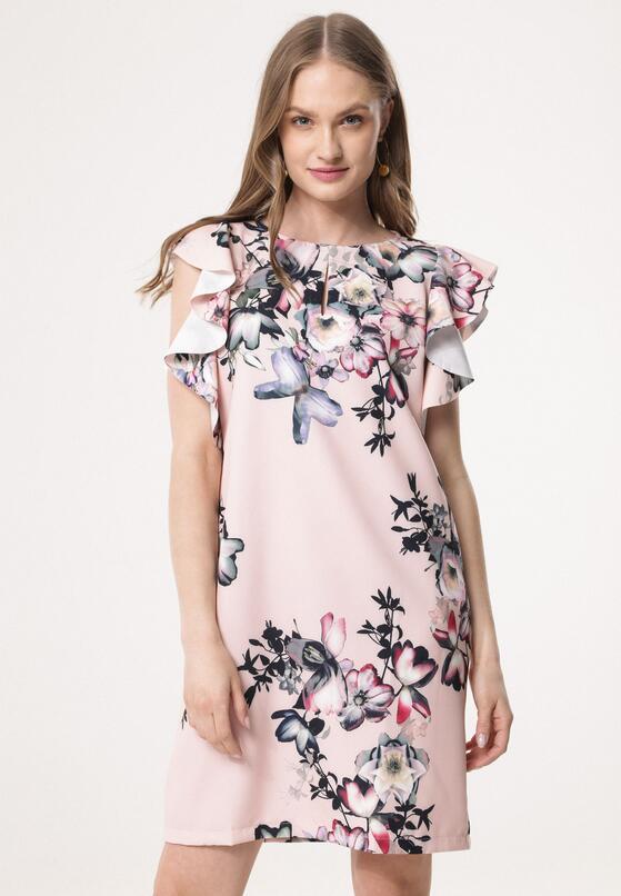 Różowa Sukienka Glare