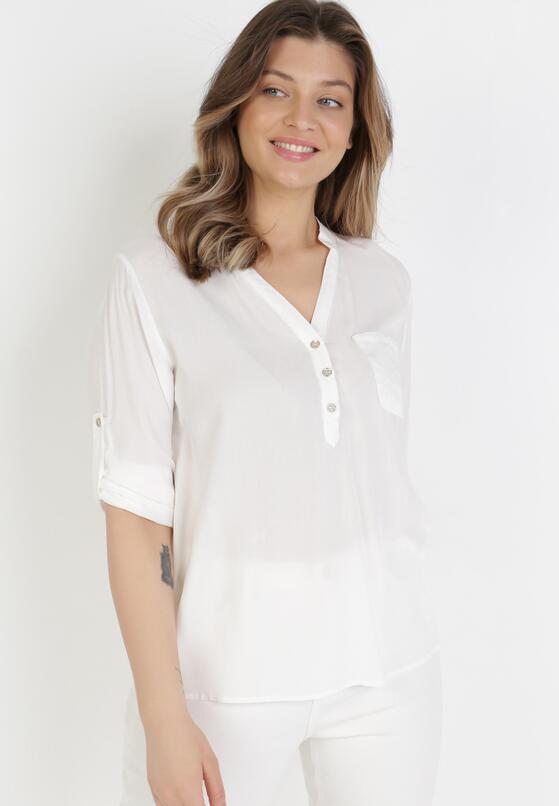 Biała Bluzka Fiber