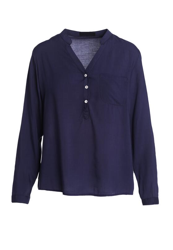 Granatowa Bluzka Fiber