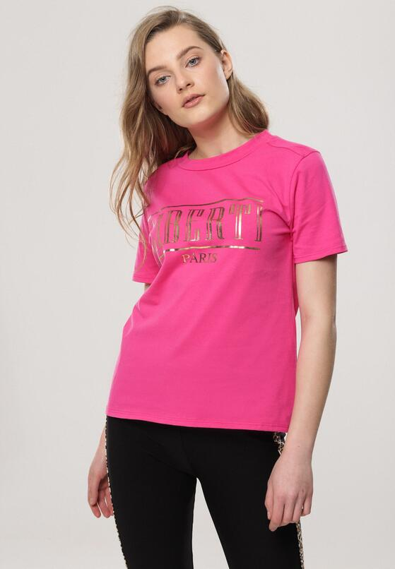 Fuksjowy T-shirt Sustainability
