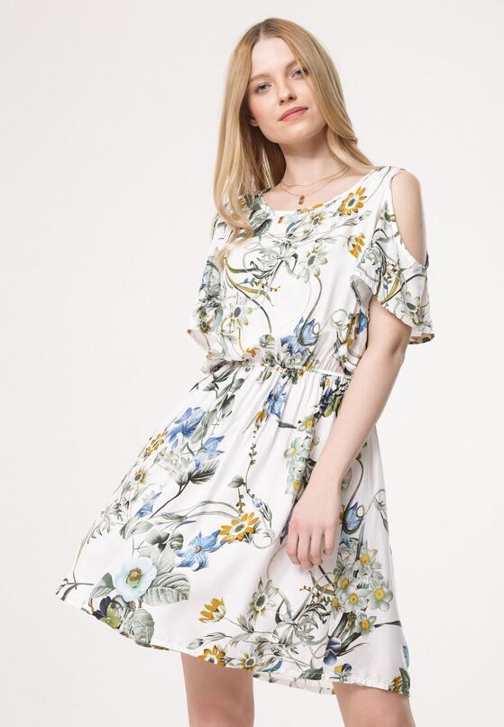 Biała Sukienka Liking