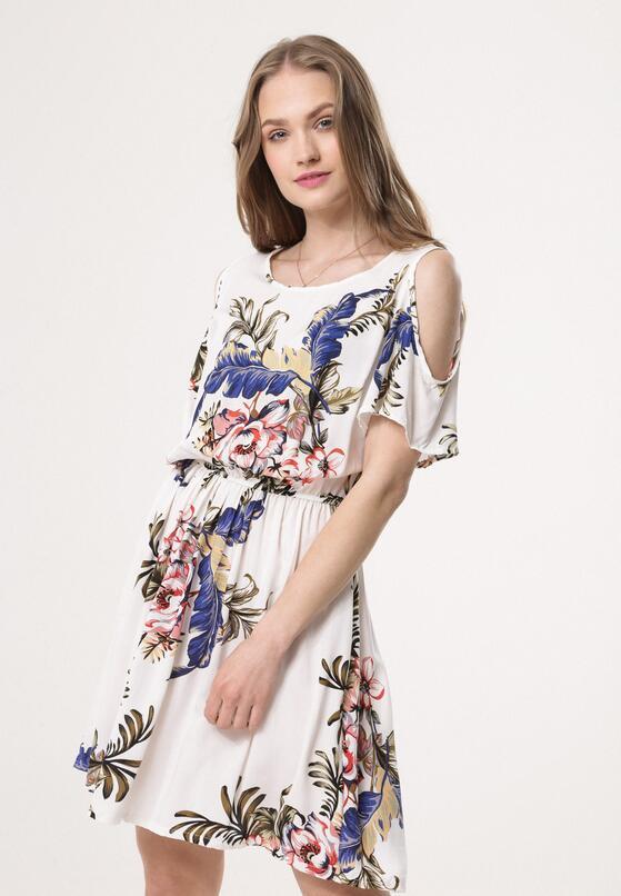 Biała Sukienka Think Out