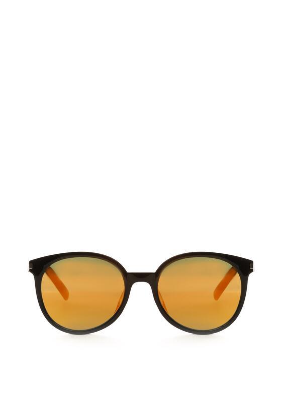 Czarno-Pomarańczowe Okulary Power Wall