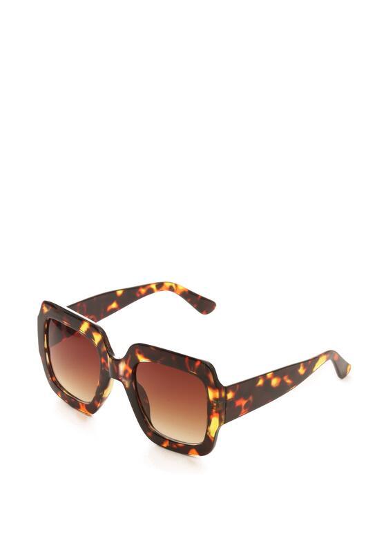 Brązowe Okulary Beauty