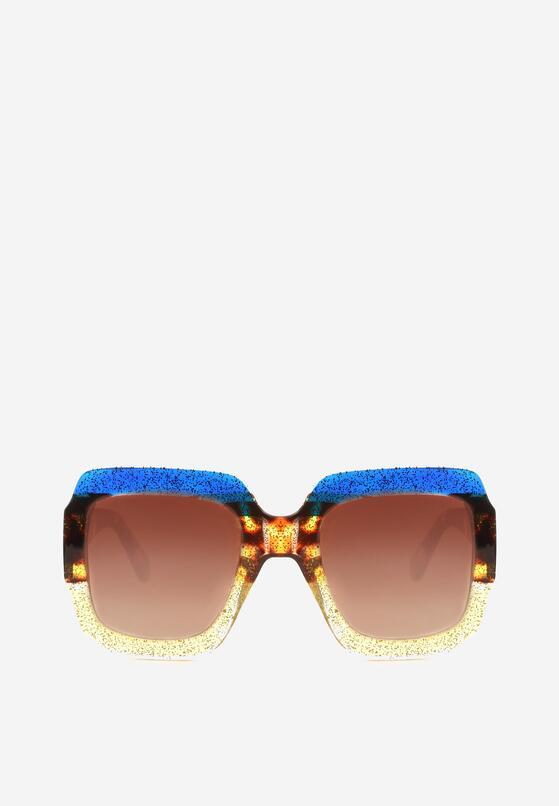 Niebiesko-Żółte Okulary Beauty