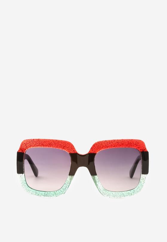 Czerwono-Zielone Okulary Beauty
