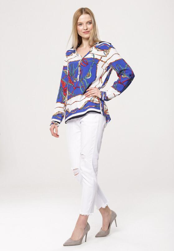 Biało-Niebieska Koszula Wanter