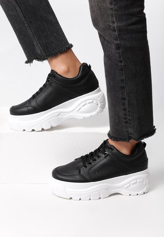 Czarne Sneakersy Fancied