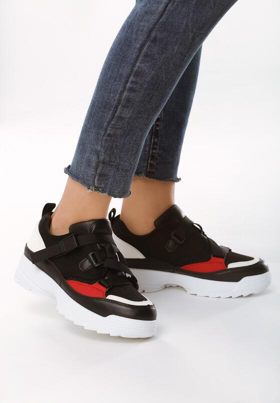 Czarne Sneakersy Unwonted