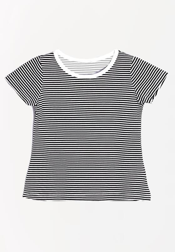 Czarno-Biała Koszulka Nicely