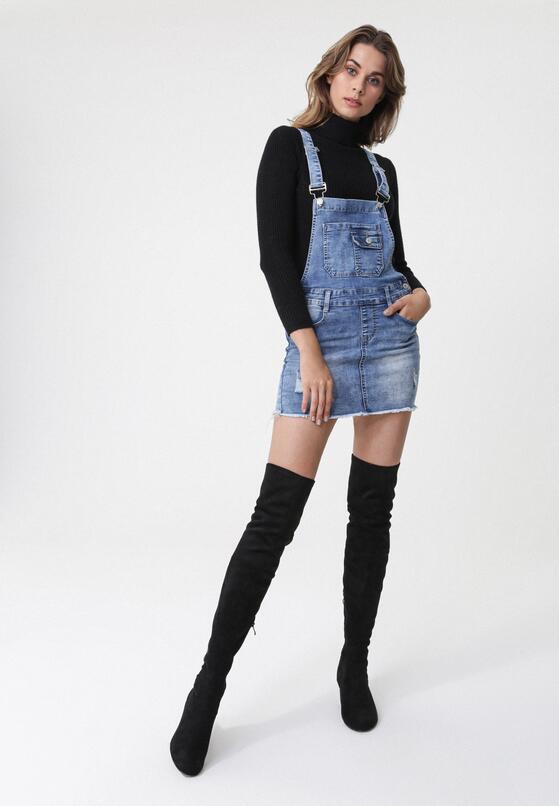 Niebieska Spódnica Glamor