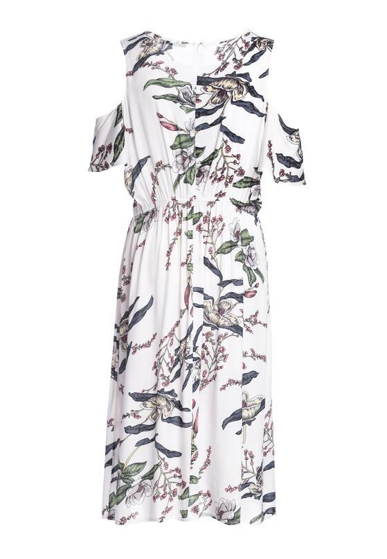 Biała Sukienka Orchid