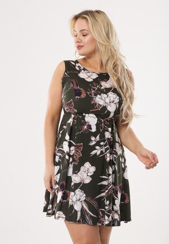 Ciemnozielona Sukienka Anemone