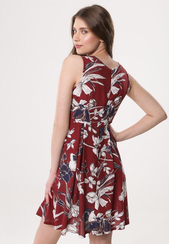 Bordowa Sukienka Anemone