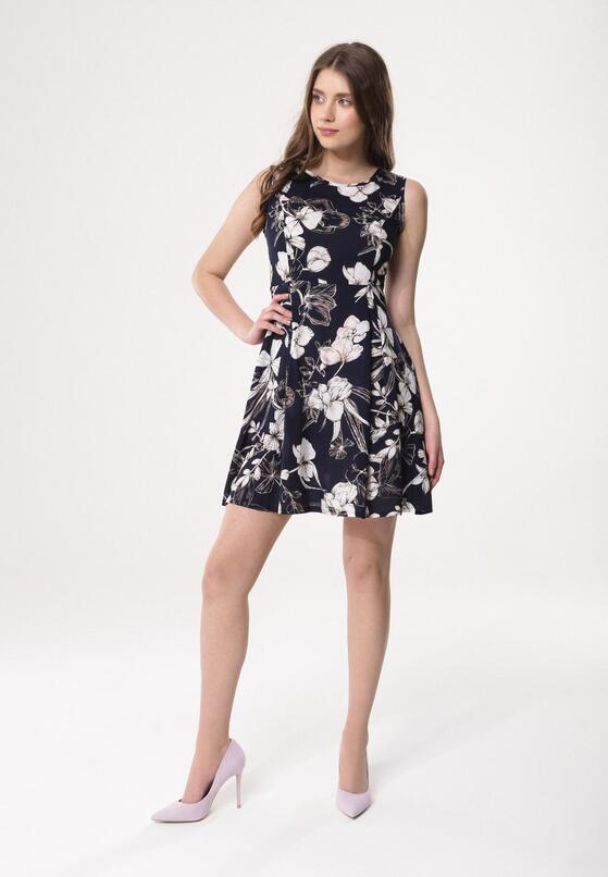 Granatowa Sukienka Anemone