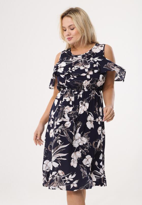 Granatowa Sukienka Lily