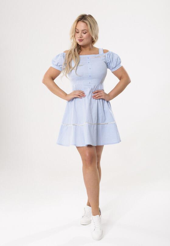 Niebieska Sukienka Cool As