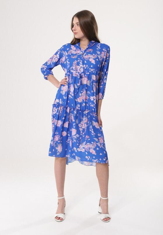d9405e83f1 Niebieska Sukienka Allay w Born2be.pl