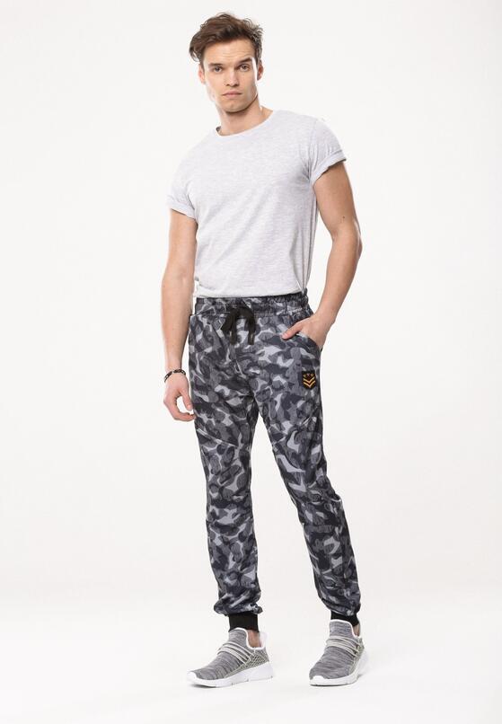 Granatowe Spodnie Halt