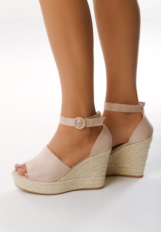 Beżowe Sandały Leaving