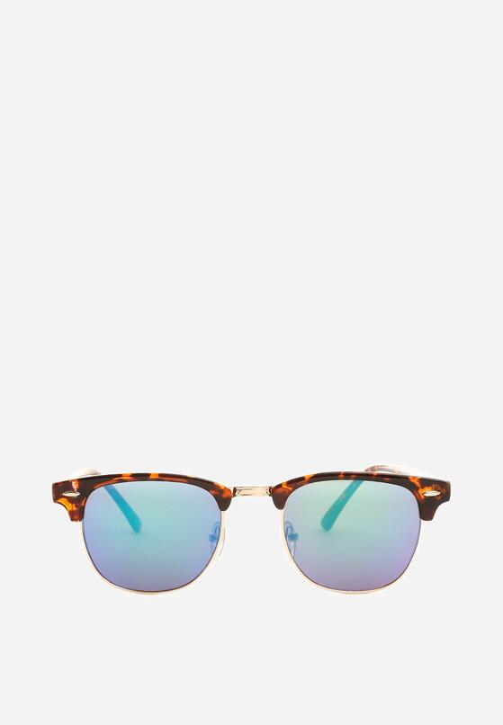 Brązowo-Niebieskie Okulary Amid