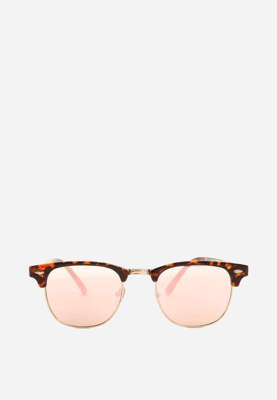 Różowo-Brązowe Okulary Amid