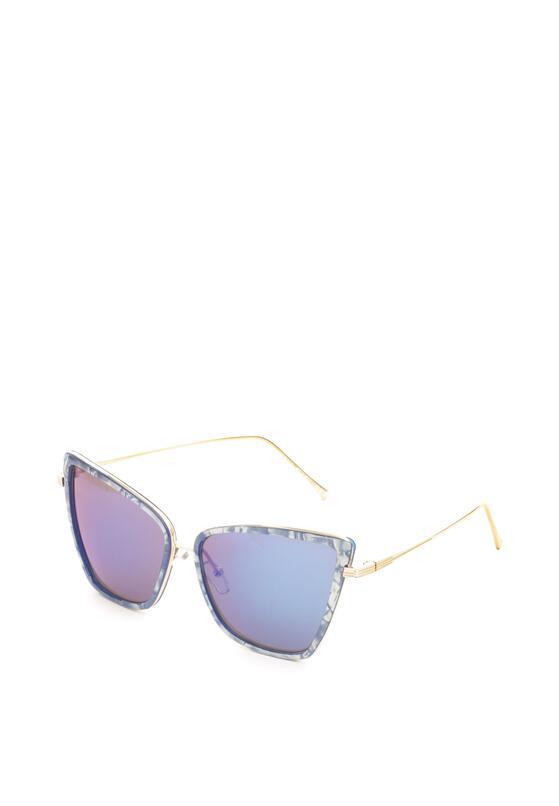 Granatowe Okulary Unprocessed