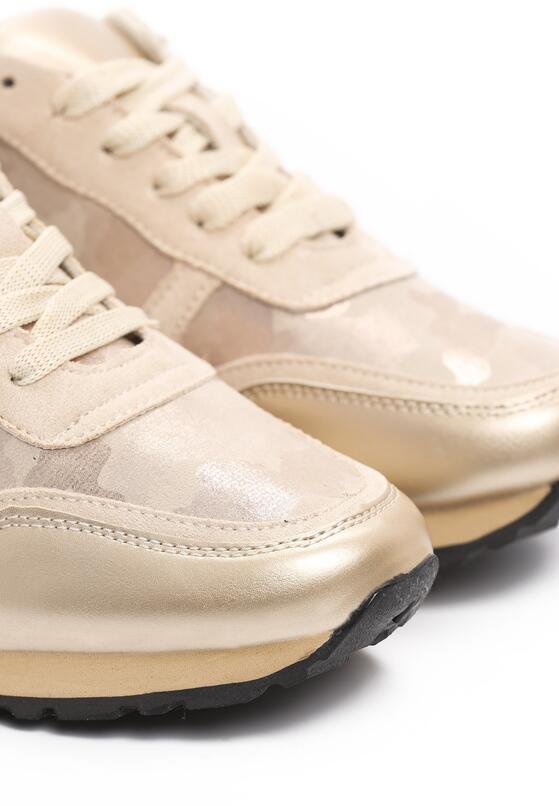 Beżowe Buty Sportowe Constructiveness
