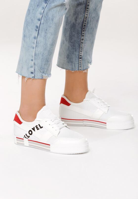 Białe Sneakersy Plus