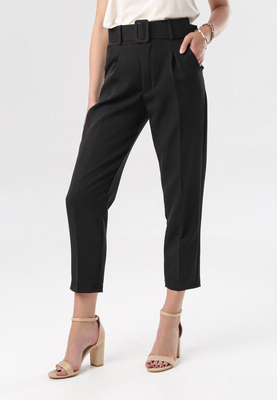 Czarne Spodnie Graceful