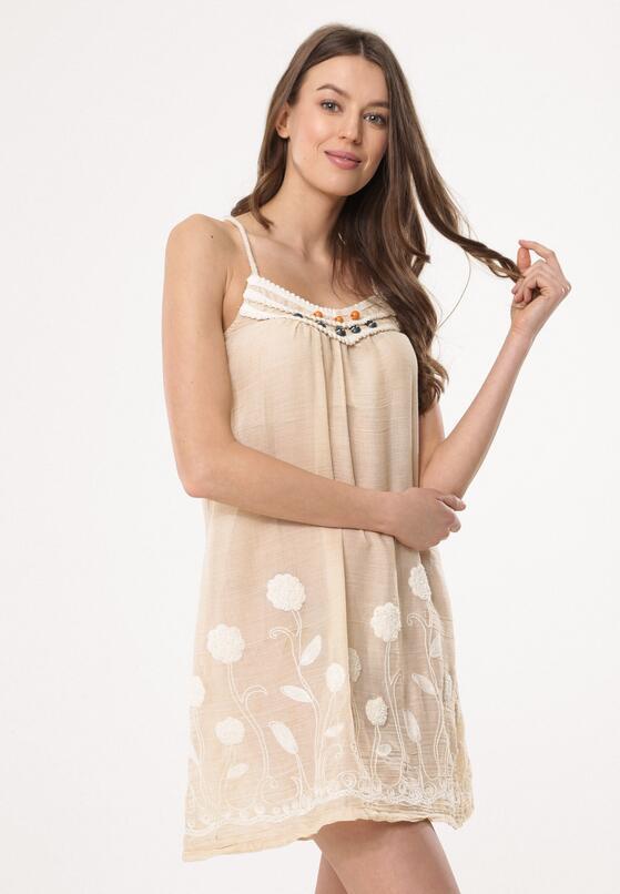 Beżowa Sukienka Breathless