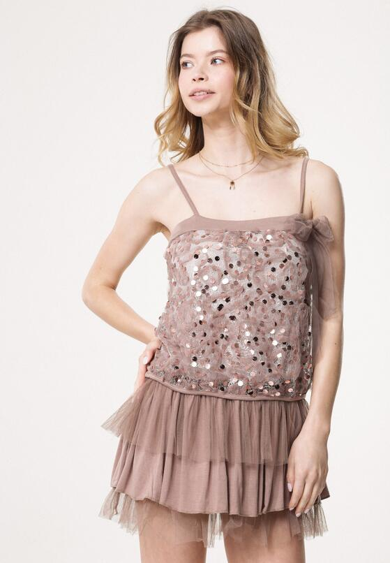 Beżowa Sukienka Circumvent