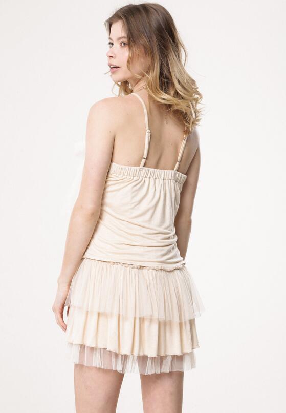 Jasnobeżowa Sukienka Circumvent