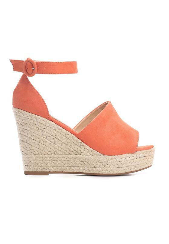 Pomarańczowe Sandały Leaving